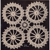 Wagon Wheels Crochet Medallion Pattern, Vintage 1940s