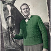 Mans Cabled Pullover Knitting Pattern