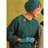 Vintage Two Piece Suit Knitting Pattern in Mohair Yarn