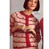 Vintage Mohair Knit Striped Cardigan Pattern