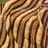 Crocheted Panel Afghan Pattern in 3 colors of Knitting Worsted called Pine Tree.