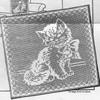 Mail Order 1766, Filet Crochet Kitten Pillow Pattern