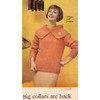 Big Collar Knitted Pullover pattern, Vintage 1959