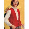 Knitted Seed Stitch Vest Pattern