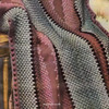Crochet Striped Afghan Pattern, Afghan and Puff Stitch