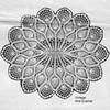 Oval crocheted doily pattern, Martha Madison 1250
