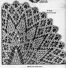 Detail of Oval spiderweb doily