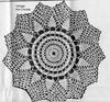 Medium Pineapple Doily Crochet Pattern, Anne Cabot 5535