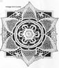 Lace Snowflake Crocheted Doily Pattern, Mail Order 5441