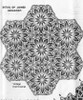 Crochet Tablecloth Pattern, Hexagon Medallions, Alice Brooks 7587