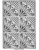 Crochet Tablecloth Pattern, Fan Squares, Laura Wheeler 508