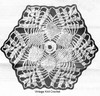 "Crocheted 5"" Medallion Pattern, Runner Cloth, Mail Order 5864"