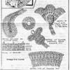 Crochet Illustration of Flower Applique for Mail Order 5879