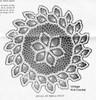 Crochet Doily with Double Pineapple Border Illustration, Design 7629