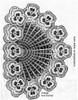 Pansy chair back pattern illustration, Alice Brooks 7284
