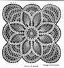 Crochet 15 inch square pattern, Pineapple, Laura Wheeler 530