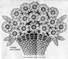 Daisy Chair Back Crochet Pattern Illustration, Design 912
