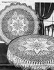 Crocheted Round Cloth pattern, star motif, Alice Brooks 6084