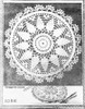 Mail Order Circular Doily Pattern, Pineapples, Needlework Bureau 1086