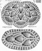 Crochet Pineapple Chair Doily pattern illustration, Needlework Bureau E-1110