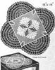 Versatile Filet Crochet Doily Pattern, Mail Order No 270