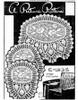Filet Rose Chair Doily, Pineapple Border, Mail Order E-1295