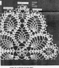 Crochet Doily Pattern illustration, Oval Pineapple