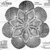 Crocheted Fan Doily Pattern, Mail Order E-809