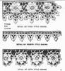 Crocheted Flower Edgings Pattern, Mail Order Design 7248