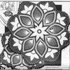 Small Crochet Tulip Doily Pattern Design 7026