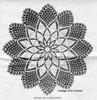 Large Chrysanthemum Doily Pattern Detail, American Weekly 3068