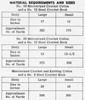 American Weekly 3132 Crochet Materials Chart
