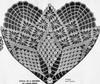 Crochet pattern stitch illustration large spiderweb doily