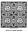 Crochet Pansy Tablecloth Pattern, American Weekly 3171