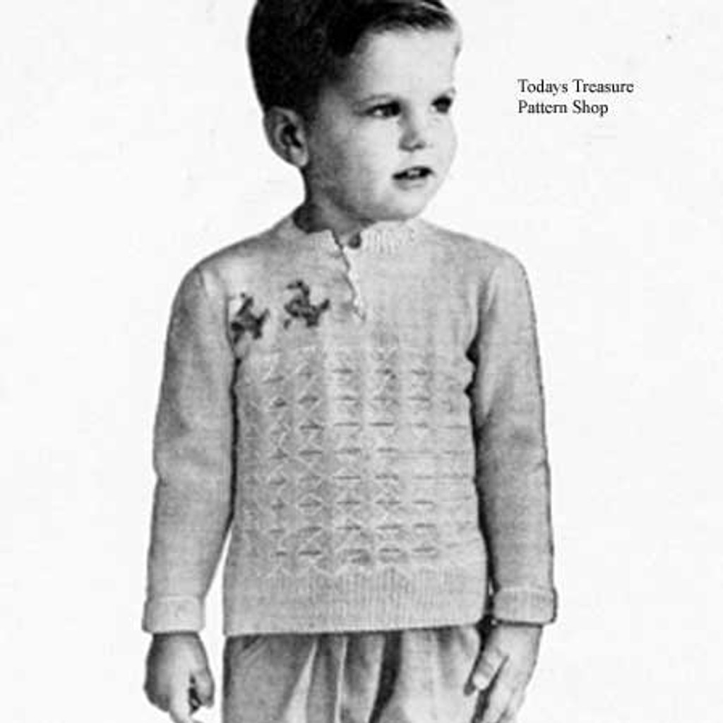 Ducky Knitted Childs Sweater Pattern