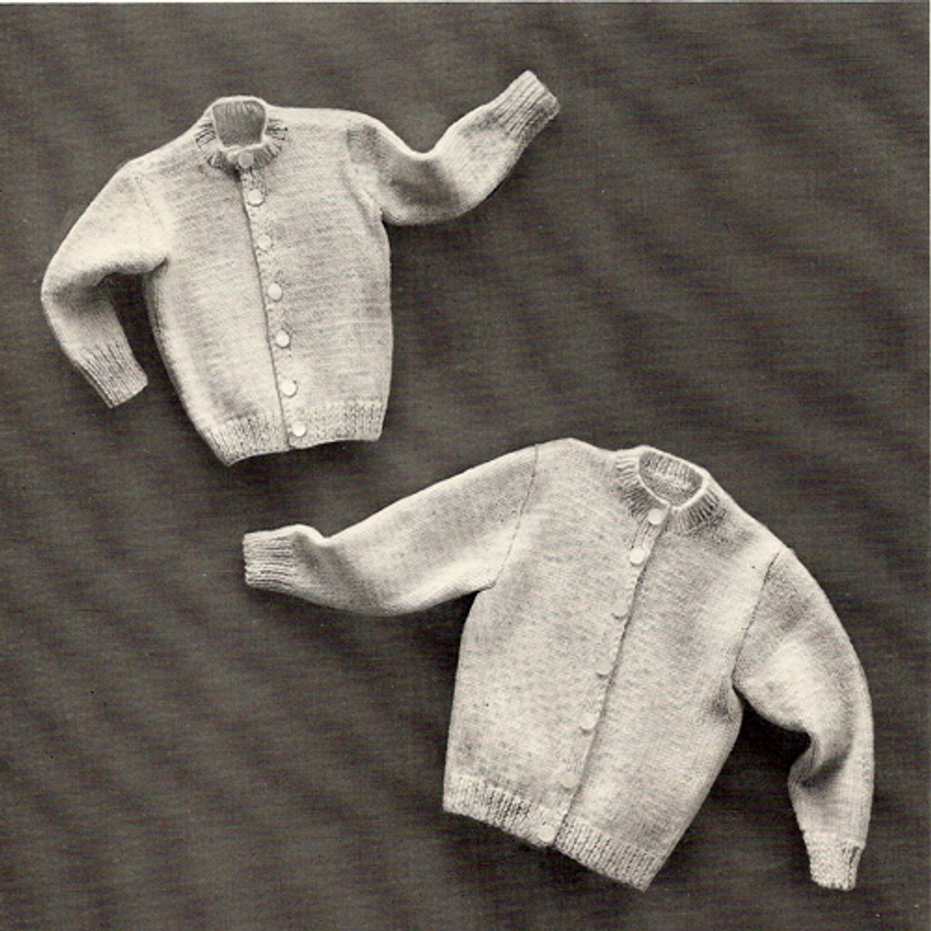 Childs Knit Cardigan Pattern from Columbia Minerva