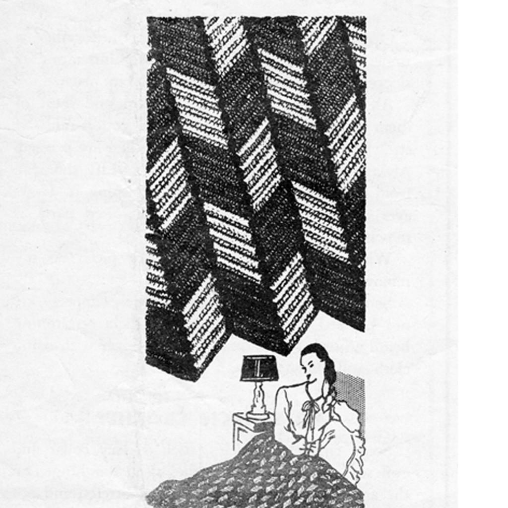 Geometric Crocheted Afghan Pattern 7085