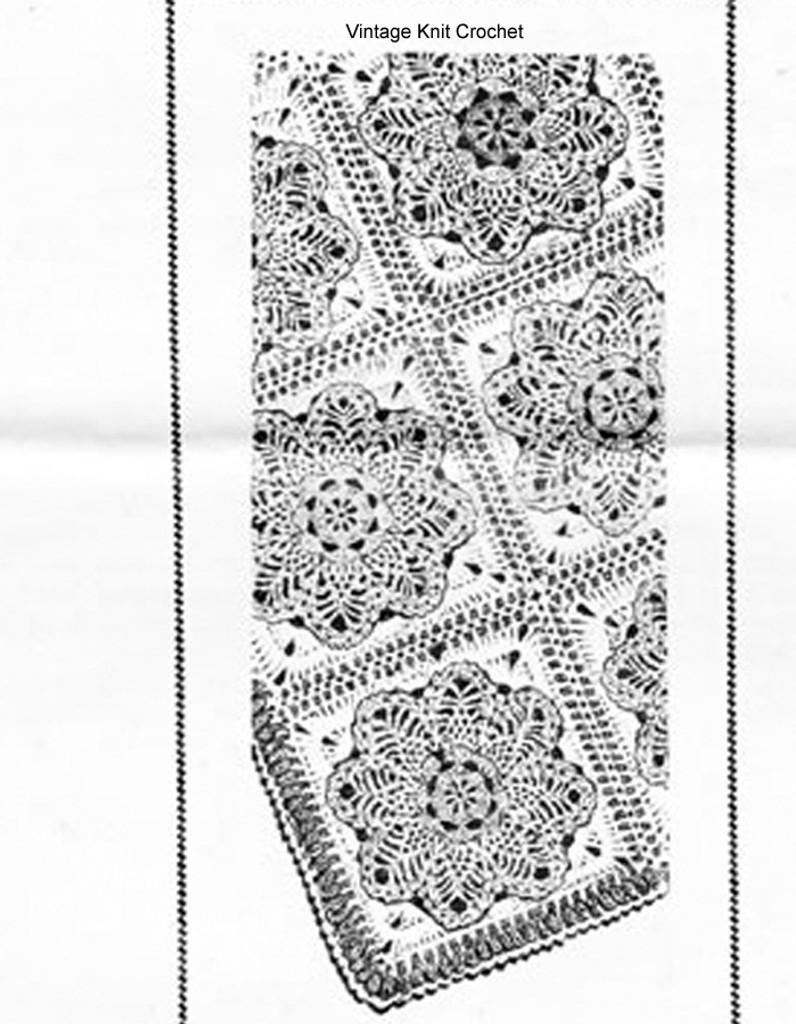 Crochet Pineapple Block Afghan Pattern Mail Order Design 608 Laura