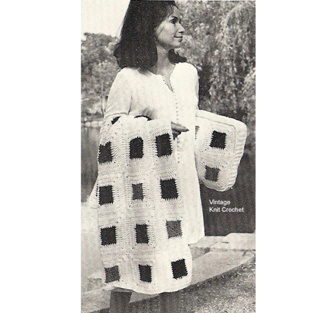 Block Crochet Afghan Pattern
