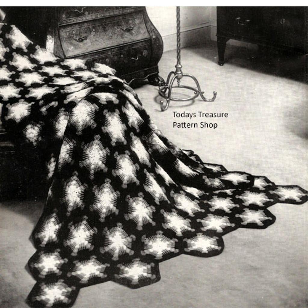 Vintage 1950s Helm Crochet Afghan Pattern