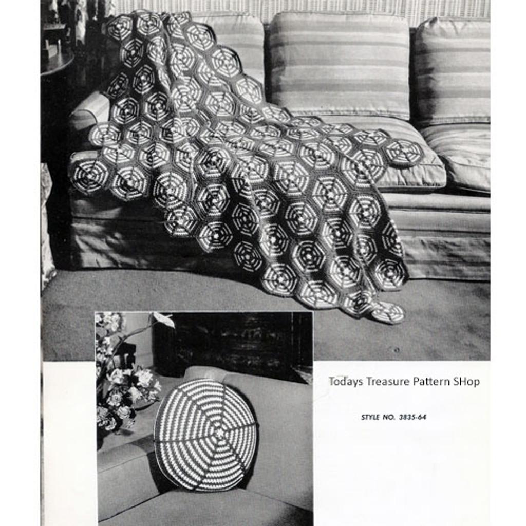 Crocheted Wagon Wheel Afghan Pattern