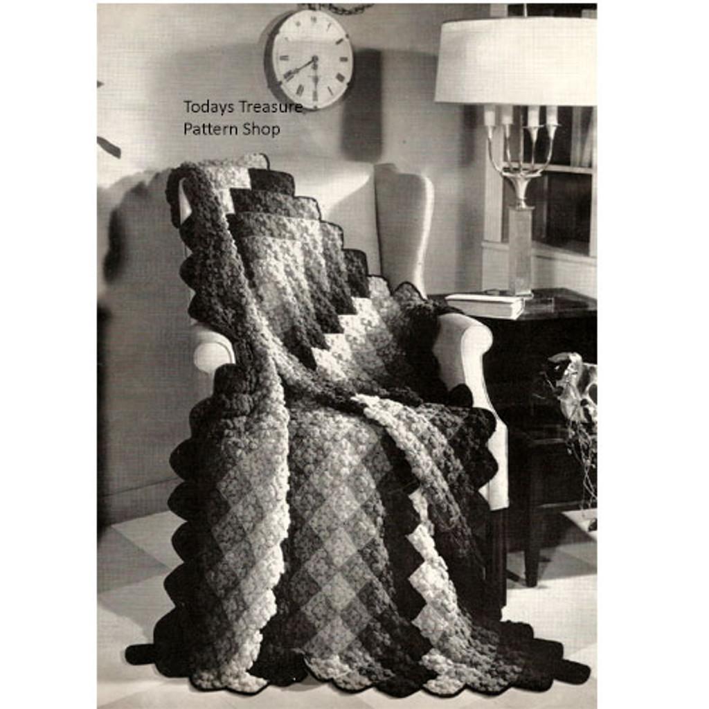Crochet Afghan Pattern in Popcorn Stitch