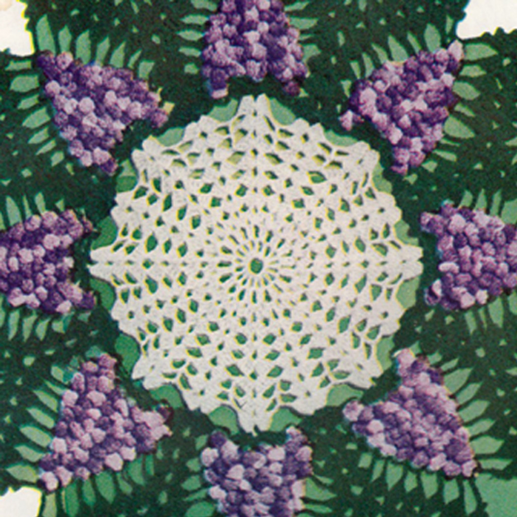 Vintage Grape Doily Crochet Pattern in three colors thread