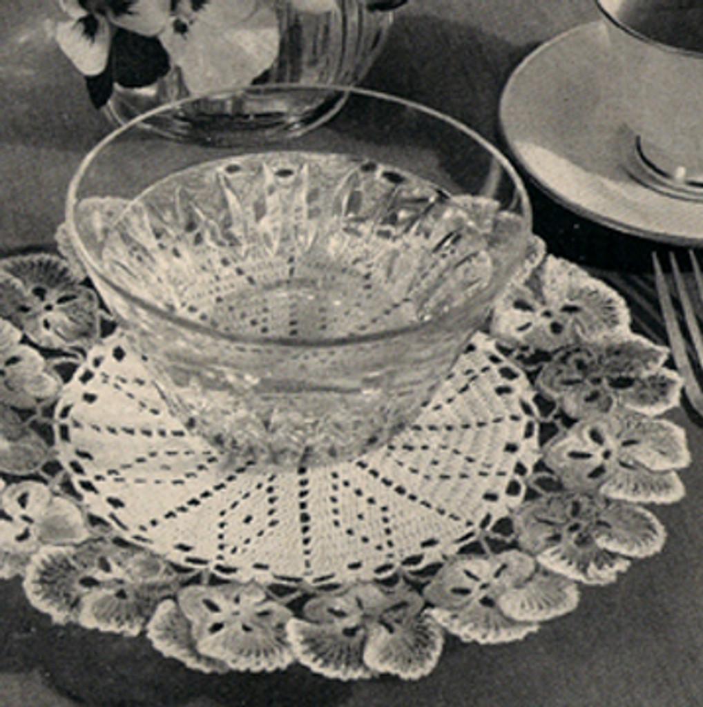 American Thread Pansy Doily Crochet Pattern