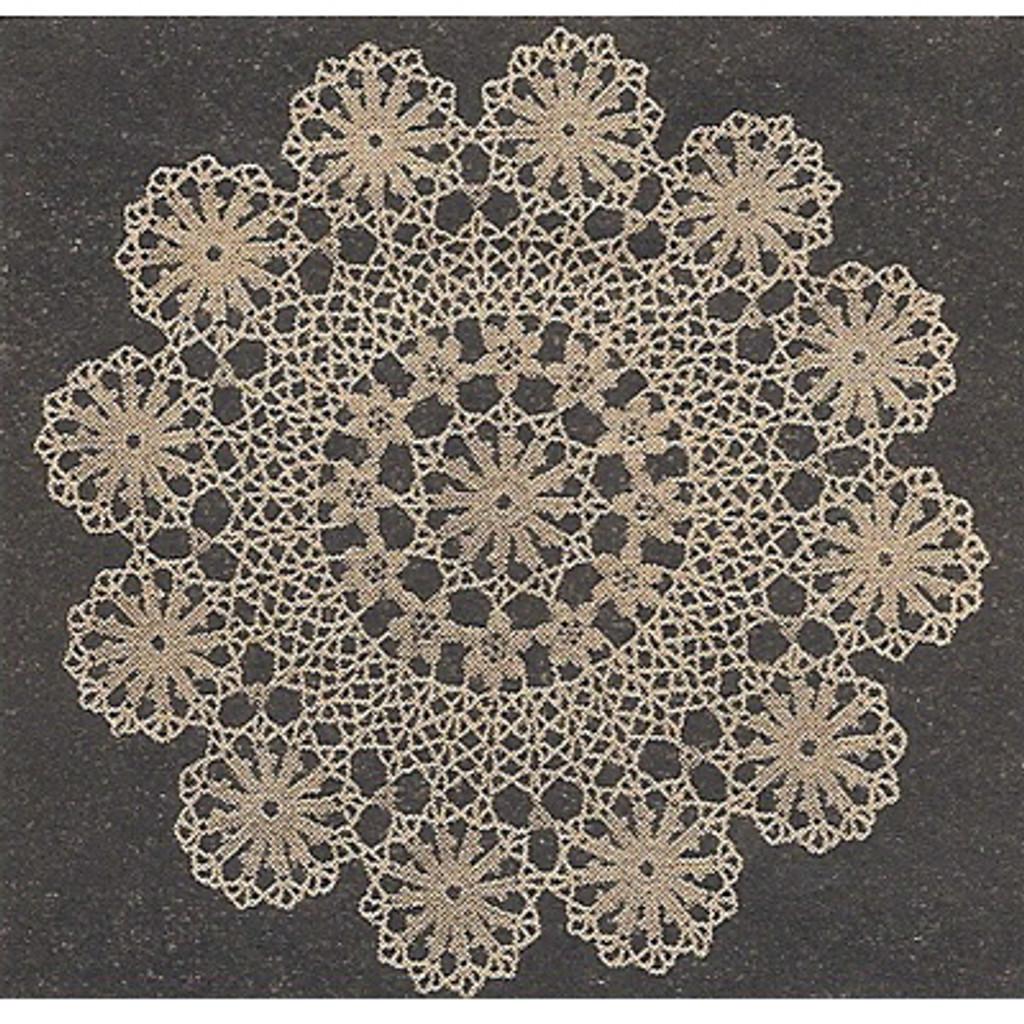Workbasket Circle of Wheels Crochet Doily Pattern