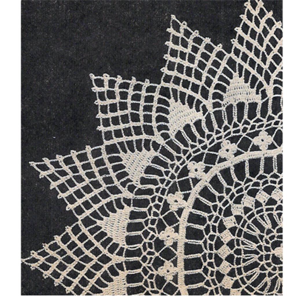 Crocheted Oval Doily Pattern from Workbasket
