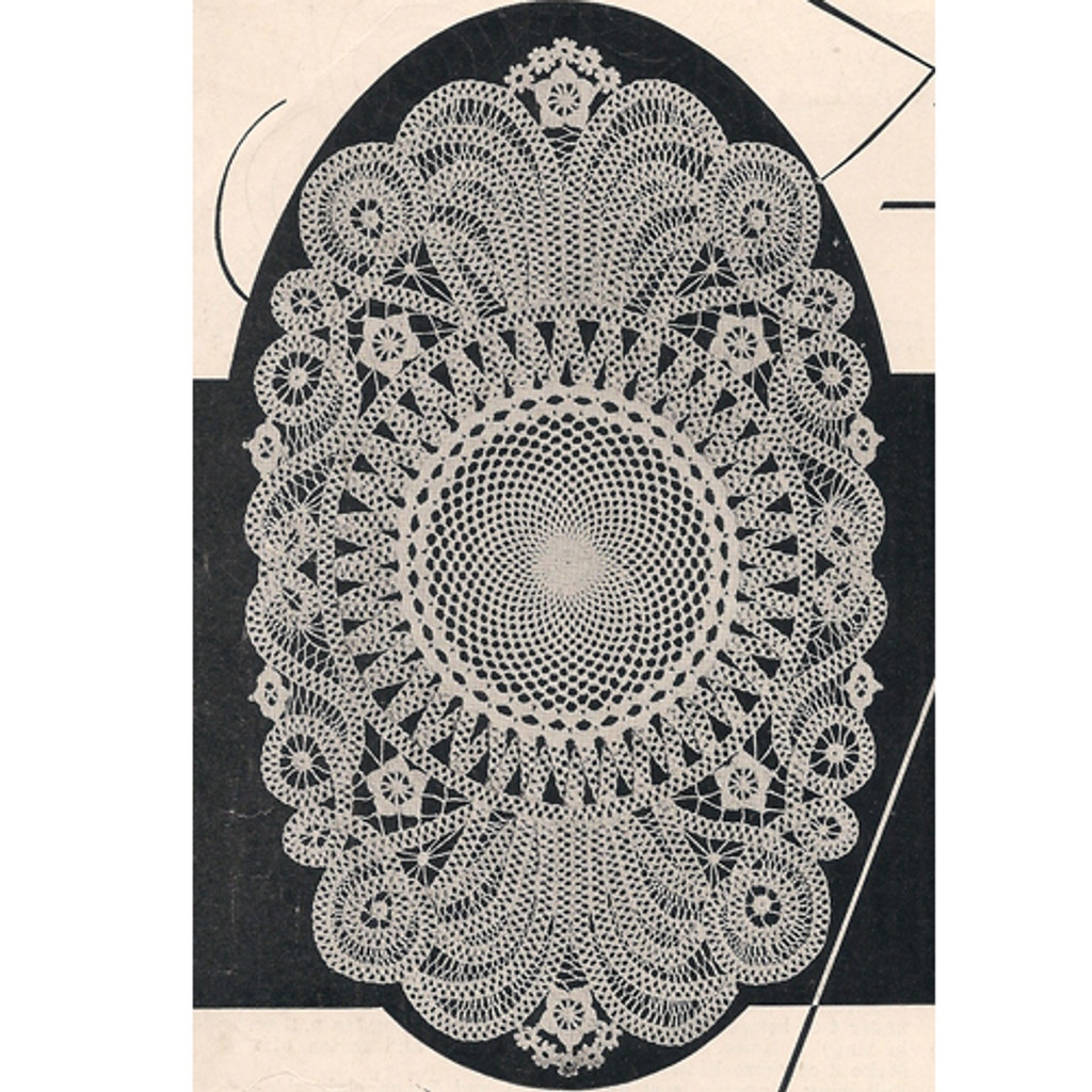 Battenberg Crocheted Lace Doily Mat Pattern