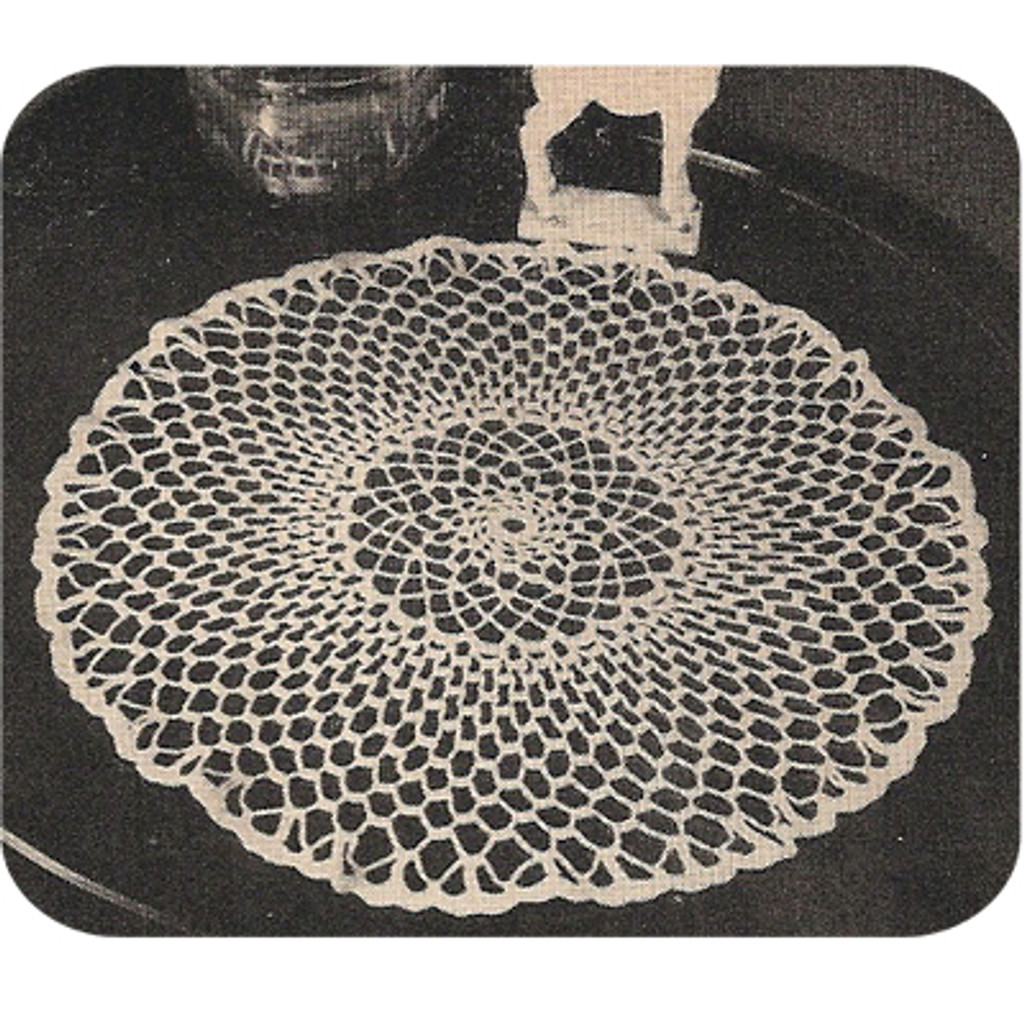 Large Crochet Doily Pattern in Loop Stitch