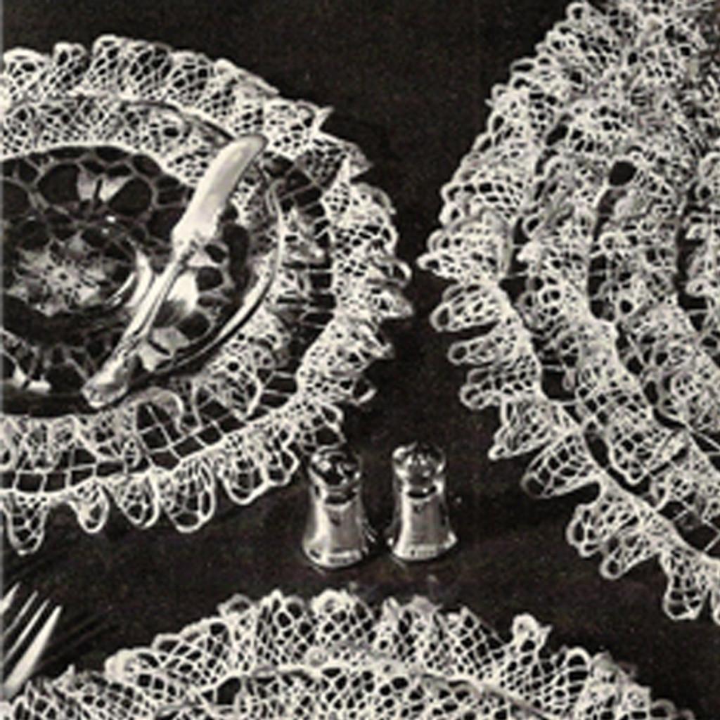 Four Rows of Ruffles Crochet Doily Pattern