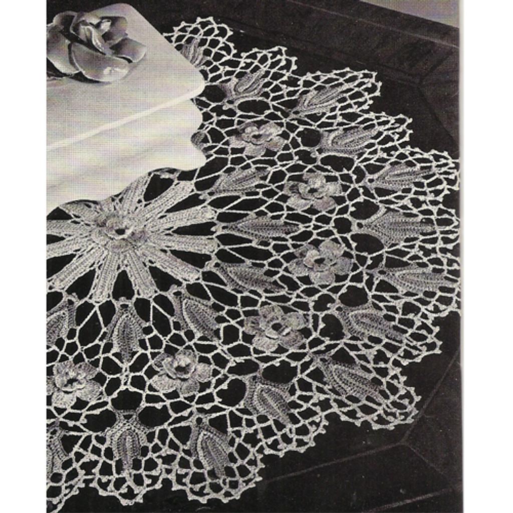 Crochet Wild Rose Vintage Doily Pattern